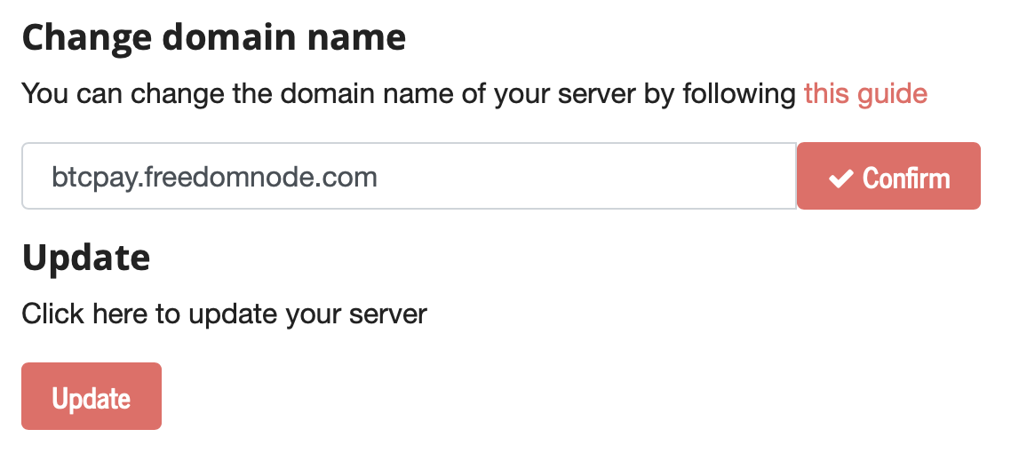 Add your own domain name