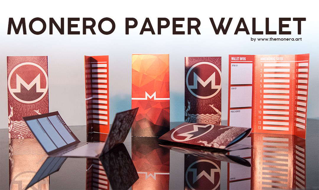 Monero paper wallet by The Monera Art
