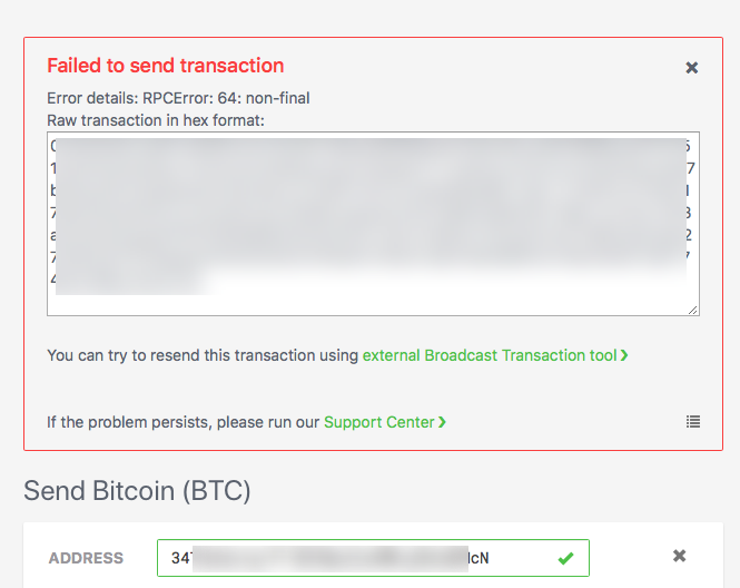 Raw transaction that needs to be safely stored and then broadcast later elsewhere